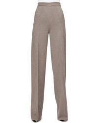 Pantalones anchos de lana grises