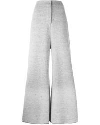 Pantalones anchos de lana grises de Stella McCartney