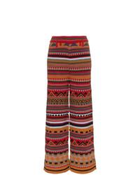 Pantalones anchos de lana marrónes de Etro
