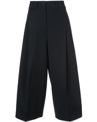 Pantalones anchos de lana negros de Jil Sander
