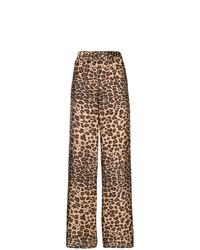 Pantalones anchos de leopardo marrónes de P.A.R.O.S.H.