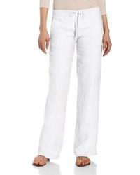 Pantalones Anchos de Lino Blancos de Michael Stars