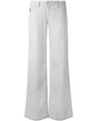 Pantalones anchos de lino grises de Armani Jeans