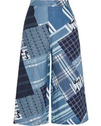 Pantalones anchos de lino