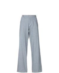 Pantalones anchos de rayas verticales celestes de A.P.C.