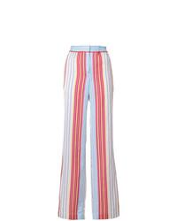 Pantalones anchos de rayas verticales en multicolor de Ps By Paul Smith