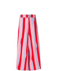 Pantalones anchos de rayas verticales en multicolor de Vivetta