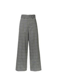 Pantalones anchos de tartán grises de G.V.G.V.