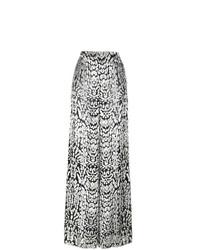 Pantalones anchos de terciopelo en negro y blanco de Adam Lippes