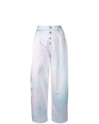 Pantalones anchos efecto teñido anudado violeta claro de MM6 MAISON MARGIELA
