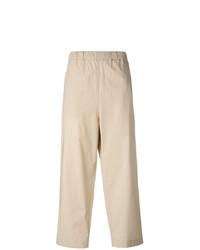 Pantalones anchos en beige de Lucio Vanotti
