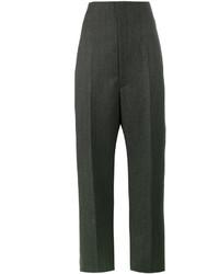 Pantalones anchos en gris oscuro de Balenciaga