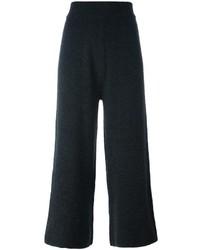 Pantalones anchos en gris oscuro