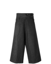 Pantalones anchos en gris oscuro de Y's By Yohji Yamamoto Vintage
