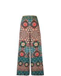 Pantalones anchos en multicolor de Alice + Olivia