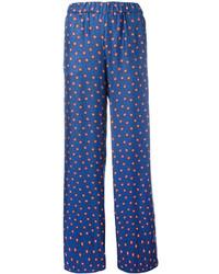 Pantalones anchos estampados azules de P.A.R.O.S.H.