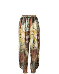 Pantalones anchos estampados en multicolor de Jean Paul Gaultier Vintage