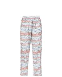 Pantalones anchos estampados en multicolor de Olympiah