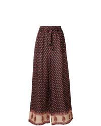 Pantalones anchos estampados en multicolor de Zimmermann