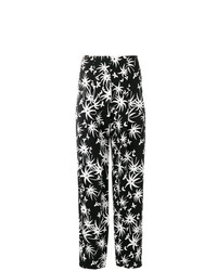 Pantalones anchos estampados en negro y blanco de Lanvin