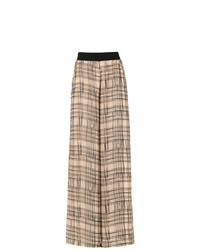 Pantalones anchos estampados marrón claro de Mara Mac