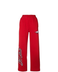 Pantalones anchos estampados rojos de Off-White
