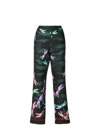 Pantalones anchos estampados verde oscuro de F.R.S For Restless Sleepers