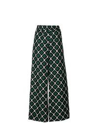 Pantalones anchos estampados verde oscuro de La Doublej