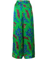 Pantalones anchos estampados verdes de Etro