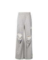 Pantalones anchos grises de T by Alexander Wang