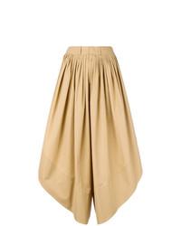 Pantalones anchos marrón claro de Chloé