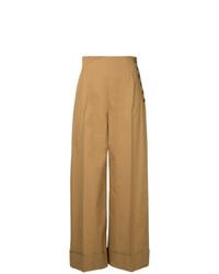 Pantalones anchos marrón claro de Le Ciel Bleu