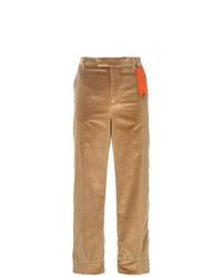 Pantalones anchos marrón claro de The Gigi