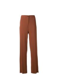 Pantalones anchos marrónes de Alberto Biani