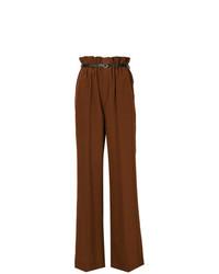 Pantalones anchos marrónes de Chloé