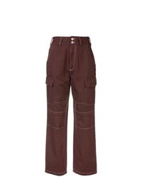 Pantalones anchos morado oscuro de Heron Preston