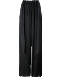 Pantalones anchos negros de Cédric Charlier