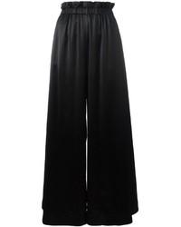 Pantalones anchos negros de Fendi