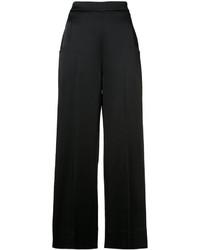 Pantalones anchos negros de Roland Mouret