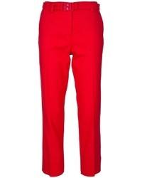 Pantalones anchos rojos de Diane von Furstenberg
