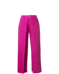 Pantalones anchos rosa de Aalto