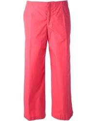 Pantalones anchos rosa de Jil Sander