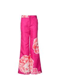 Pantalones anchos rosa de Josie Natori