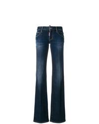 Pantalones anchos vaqueros azul marino de Dsquared2