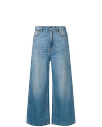 Pantalones anchos vaqueros azules