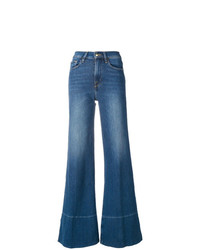 Pantalones anchos vaqueros azules de Frame Denim