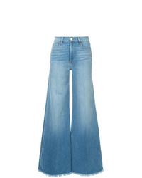 Pantalones anchos vaqueros celestes de Frame Denim