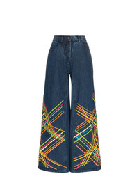 Pantalones anchos vaqueros estampados azul marino de All Things Mochi