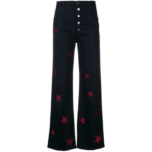d1e1af3ff1 ... Pantalones anchos vaqueros estampados negros de MiH Jeans ...