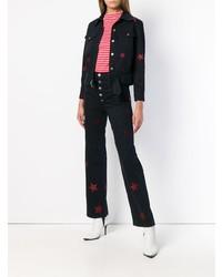f384ad6237 ... Pantalones anchos vaqueros estampados negros de MiH Jeans